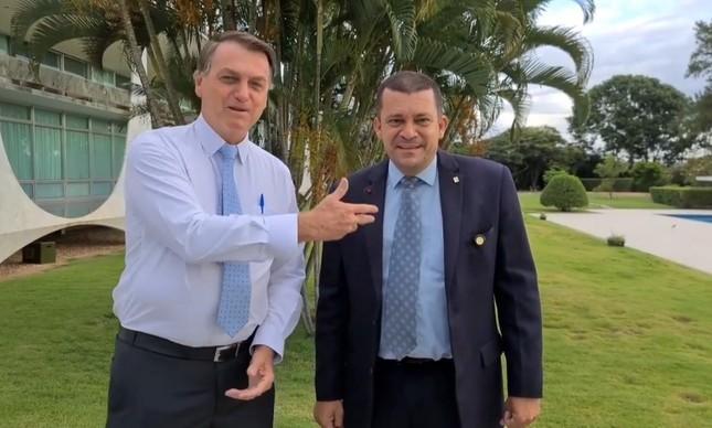 Jair Bolsonaro e Max Guilherme