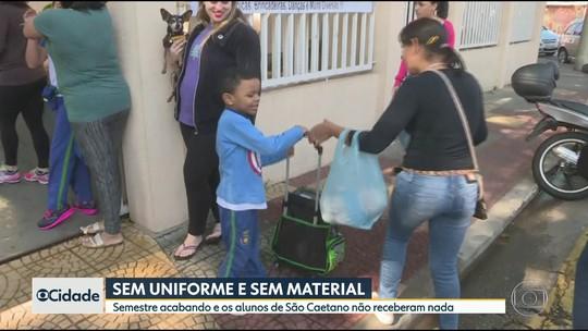 Alunos de São Caetano e Mauá ainda não receberam material e uniforme escolar