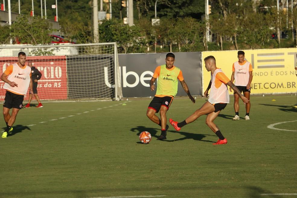 Nico em ação no treino do Inter — Foto: Eduardo Deconto