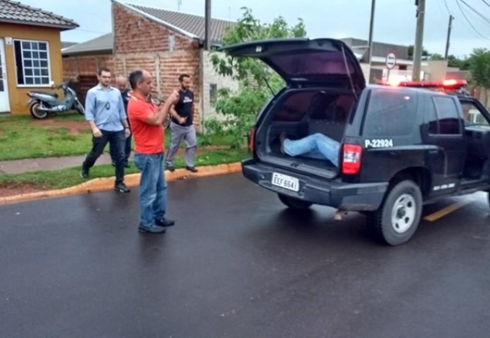 Suspeito foi preso em Votuporanga pela Polícia Civil — Foto: Votuporanga Tudo