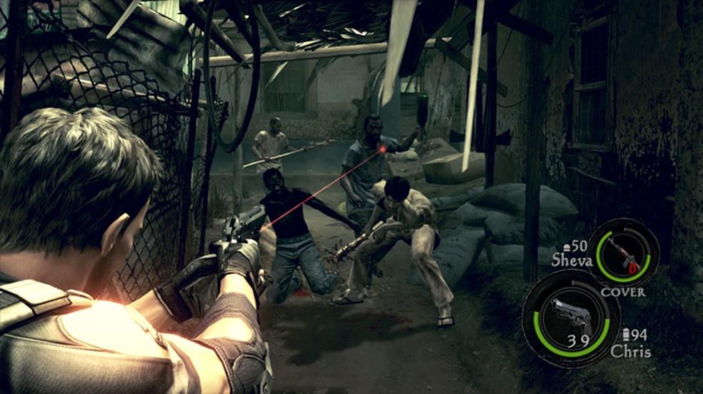 As versões do Nintendo Switch de Resident Evil 5 e 6 não são tão avançadas tecnicamente mas ainda apresentam bons visuais — Foto: Reprodução/Nintendo