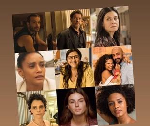Montagem com personagens de 'Amor de mãe' | TV Globo