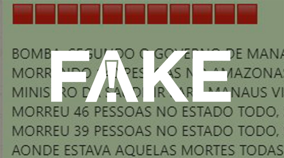 É #FAKE que mortes por Covid-19 no Amazonas diminuíram de forma expressiva após visita de ministro da Saúde  — Foto: G1