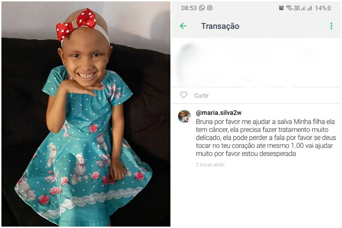 Golpista usa foto de criança que teve câncer para pedir dinheiro em app: 'Revoltante'