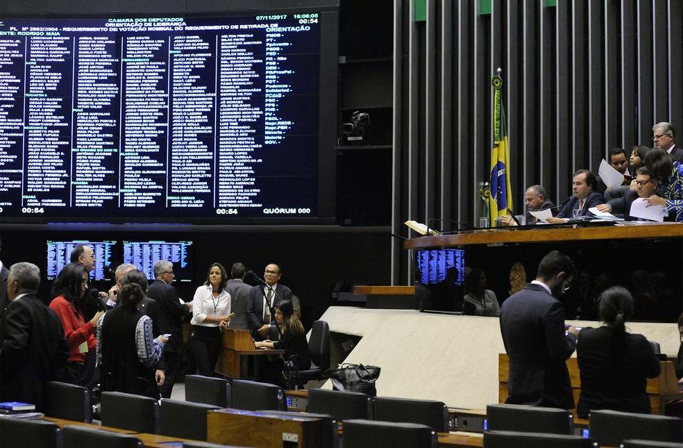 Sessão da Câmara em 07/11 (Foto: Luis Macedo/Câmara dos Deputados)