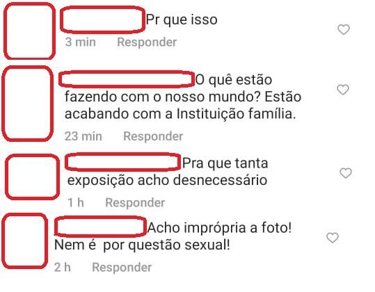 Comentários na timelime de Vitória Strada  (Foto: Reprodução Instagram)