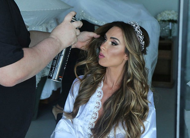 Nicole Bahls se prepara para o casamento (Foto:  Daniel Pinheiro e Anderson Borde/AgNews )
