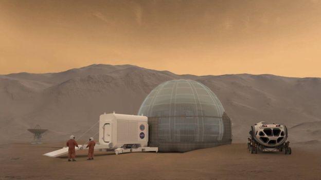 A Nasa tem planos de enviar astronautas a Marte (Foto: Nasa via BBC News Brasil)