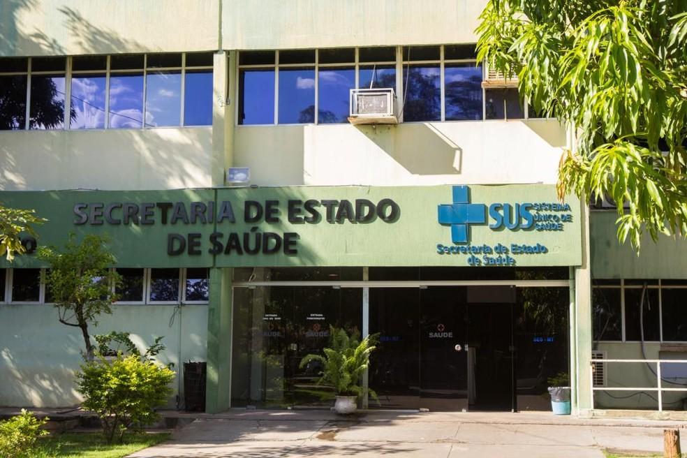 Secretaria Estadual de Saúde de MT — Foto: Gcom-MT/ Assessoria