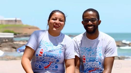 Amigos com projeto ecológico que saíram sem nada do 'The Wall' ensinam como diminuir poluição na praia
