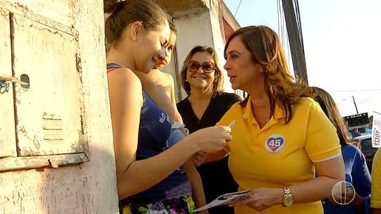 Márcia Maia visita Parque dos Coqueiros e fala sobre segurança
