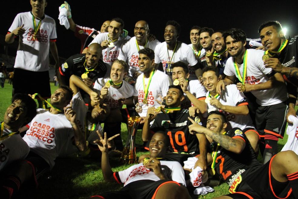 Botafogo-SP campeão da Série D 2015 — Foto: Emanuele Madeira