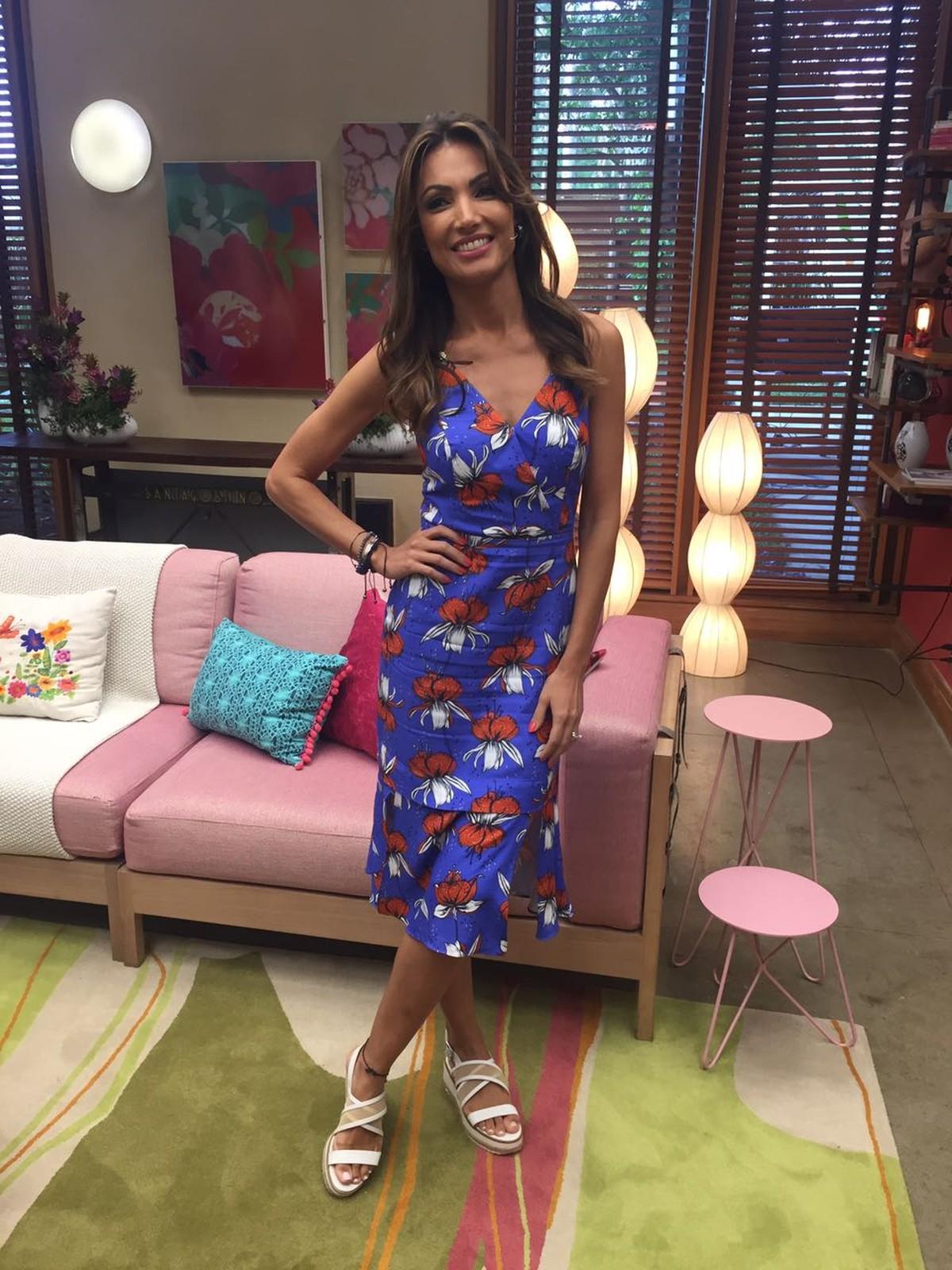 53122948e Patrícia Poeta aposta em vestido midi para apresentar o 'É de Casa': 'Dá  uma modelada no corpo' | Estilo | Gshow