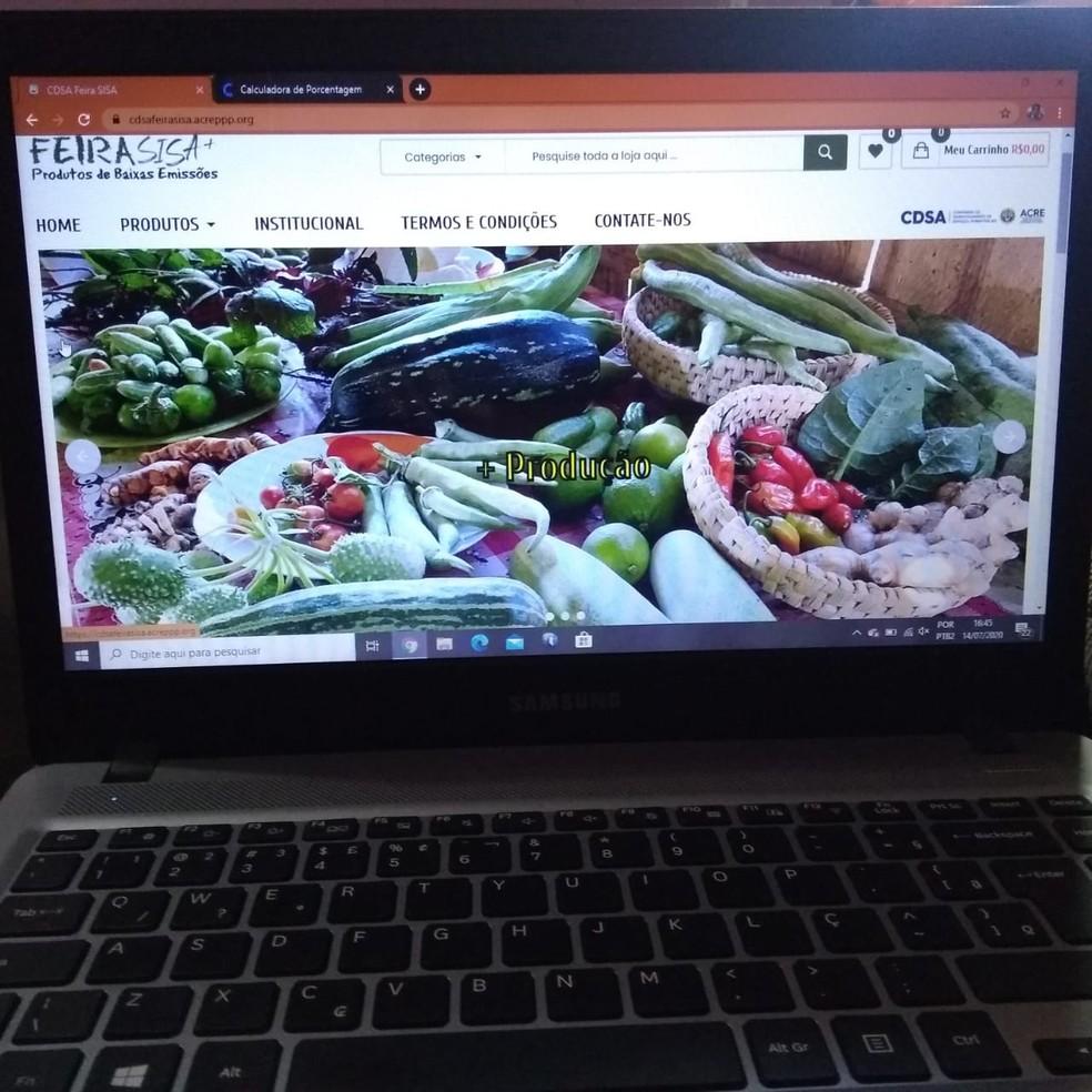 Feira de orgânicos é totalmente on-line  — Foto: Alcinete Galdelha/G1