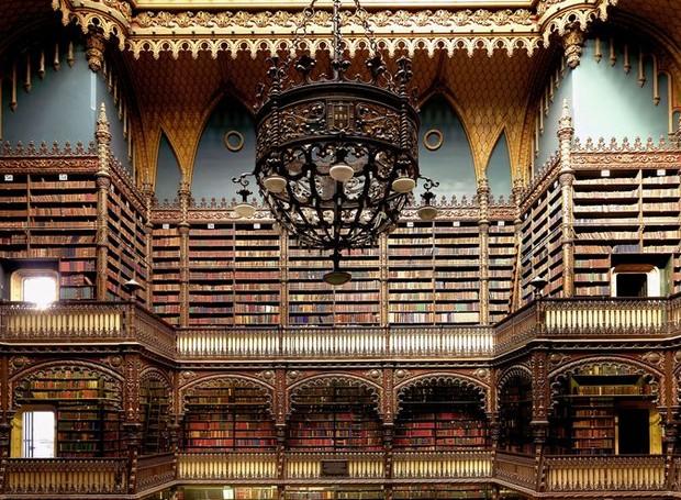 Real Gabinete Português de Leitura, no Rio de Janeiro, Brasil (Foto: Massimo Listri/ Taschen/ Reprodução)