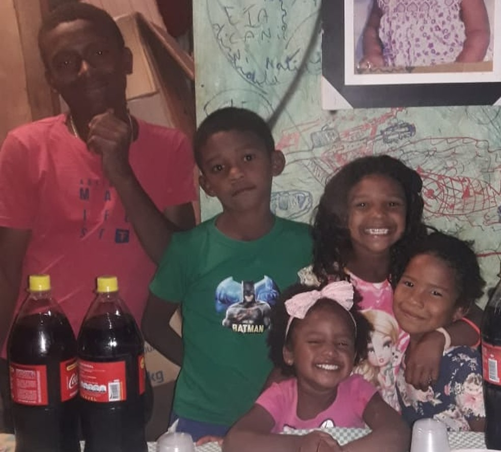 Filhos de Charlene Marques comemoram aniversário da caçula — Foto: Arquivo pessoal