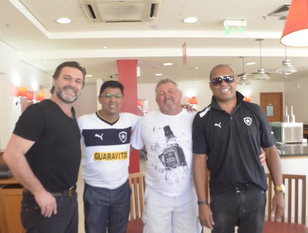 Craques da fase de ouro do Botafogo se reúnem, em encontro no Amapá (Foto: Cassio Albuquerque/GE-AP)