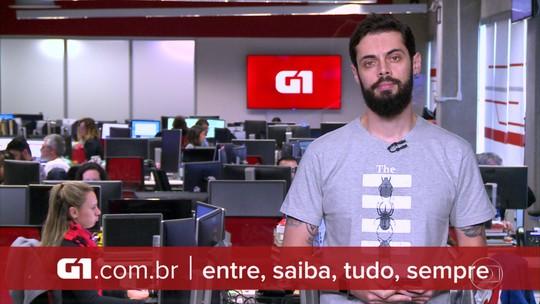 G1 em 1 Minuto: Sequestrador de ônibus é morto no Rio; reféns são liberados sem ferimentos