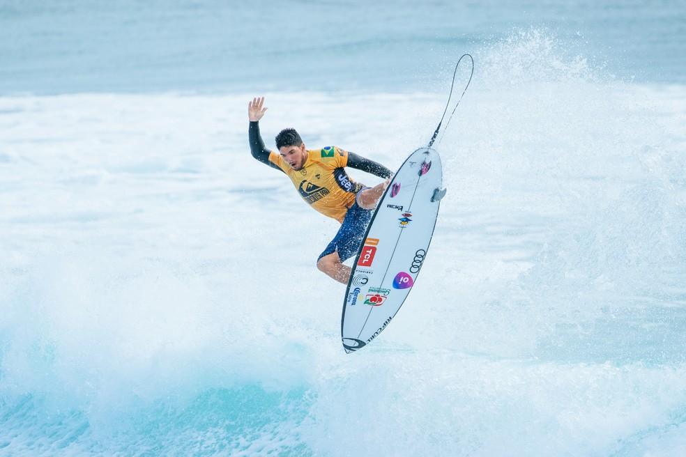 Gabriel Medina estreou com um 5º em Gold Coast — Foto: Matt Dunbar/WSL