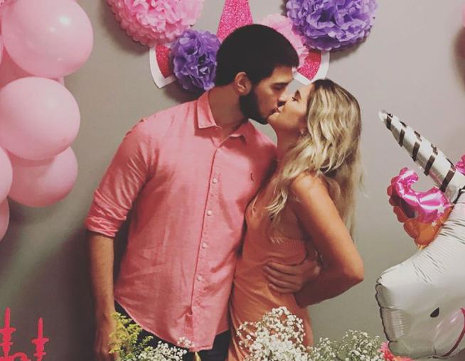 Vinícius Bonner e a namorada (Foto: Reprodução/Instagram)