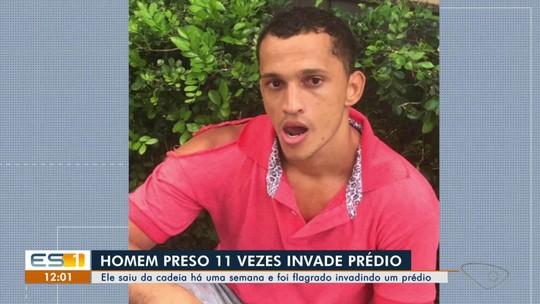 Deputado flagra criminoso invadindo prédio e dá voz de prisão em Vitória