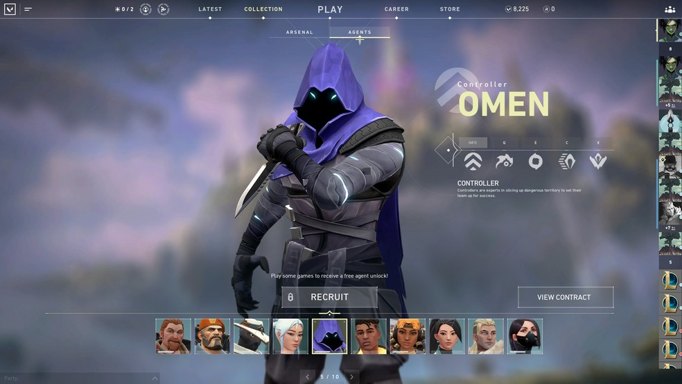 Omen is one of the characters in the game. (Image: Valorant)