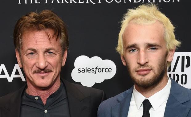 Sean Penn e o filho, Hopper Penn (Foto: Getty Images)