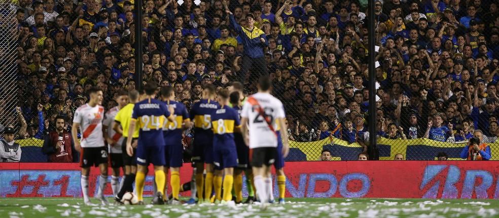 Clássico entre Boca Juniors e River Plate decidiu a Libertadores de 2018 — Foto: Reuters