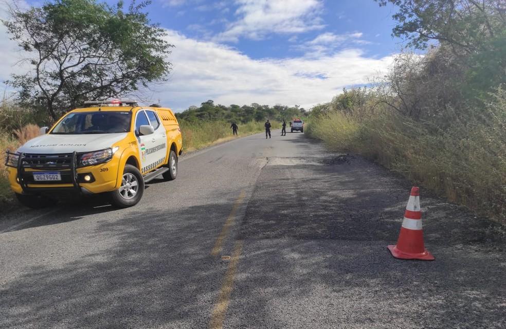 Mulher morre em acidente na RN-089, no município de Serra Negra do Norte — Foto: Cedida