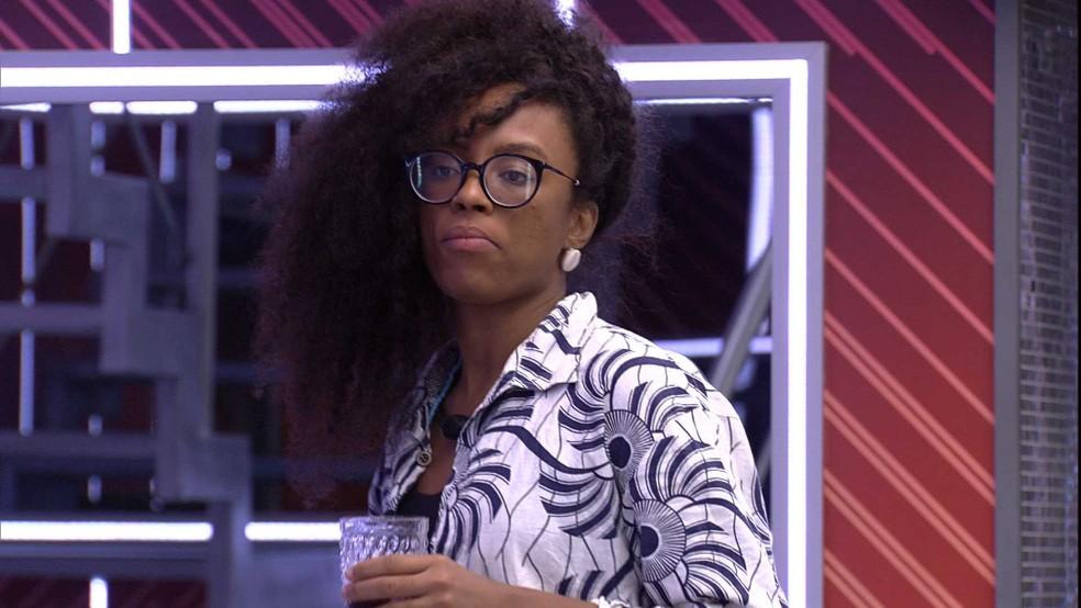 Lumena dispara sobre sister do BBB21: 'Ela é cobrinha' — Foto: Globo