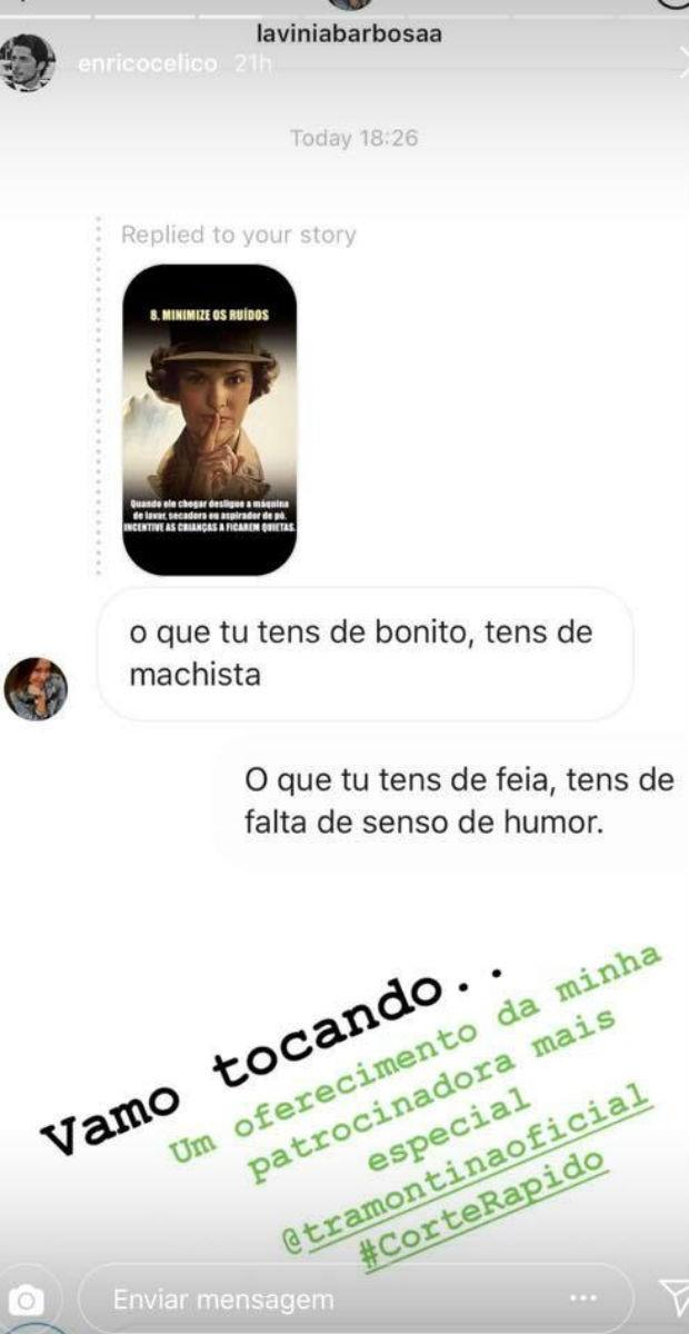 Enrico Celico respondeu as seguidoras (Foto: Reprodução/Instagram)