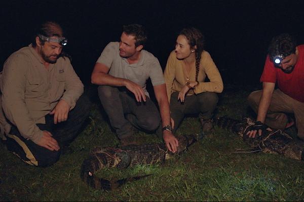 Max Fercondini e Amanda Richter em expedição na série 'Sobre as Asas' (Foto: Divulgação)