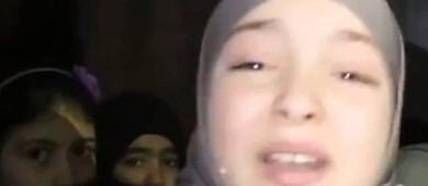 Menina síria emociona ao clamar por paz: 'Por favor, nos salvem' (Reprodução)