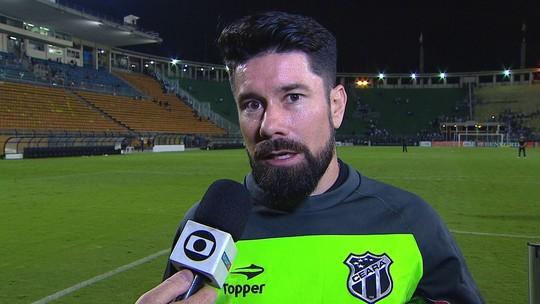 Ricardinho fala sobre lesão e lamenta chances desperdiçadas pelo Ceará contra o Santos