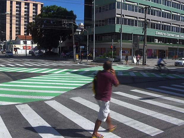 faixa em x da santos dumont (Foto: TV Verdes Mares/Reprodução)