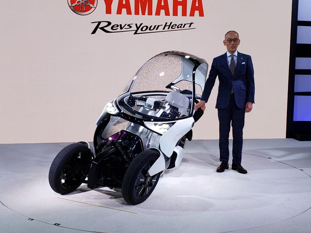 Yamaha MW-Vision, novo conceito de moto com 3 rodas. — Foto: Rafael Miotto/G1