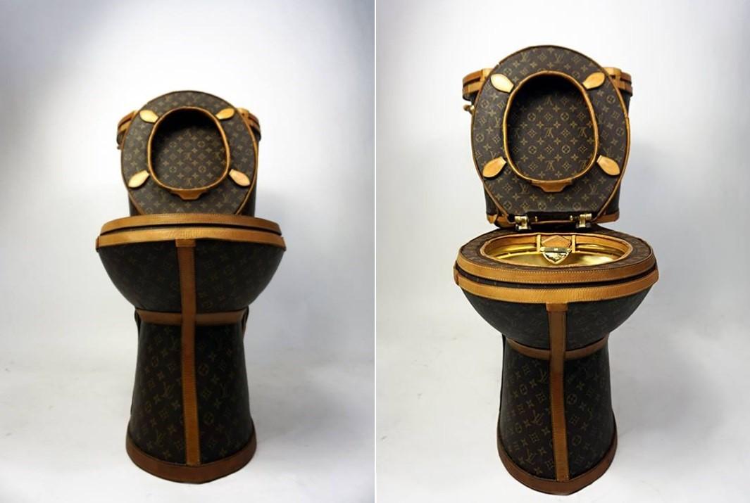 Vaso sanitário à Louis Vitton