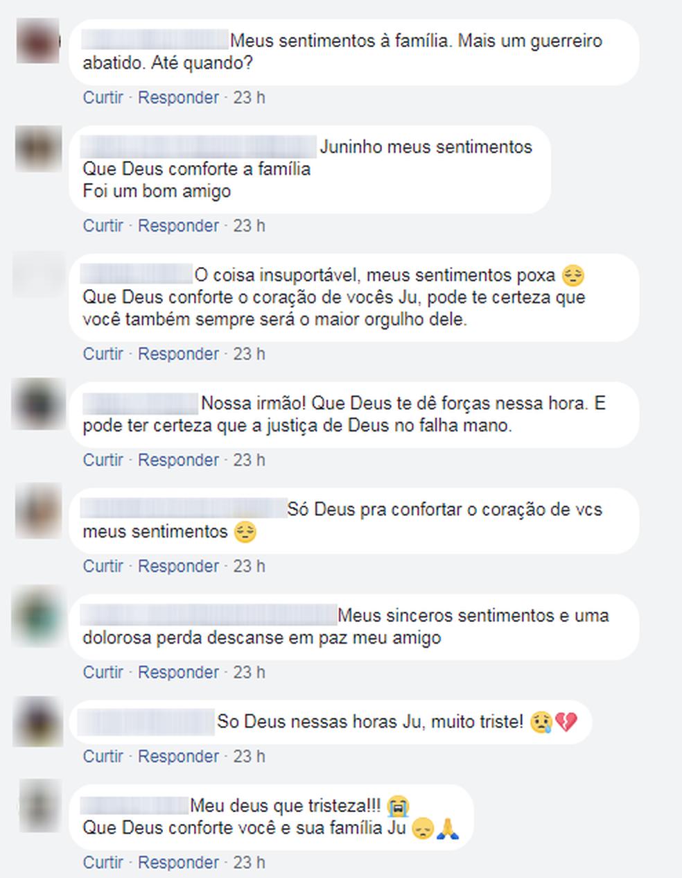 Comentários em solidariedade à família ajuda a lidar com dor da perda, diz sobrinho  (Foto: Reprodução/Facebook)