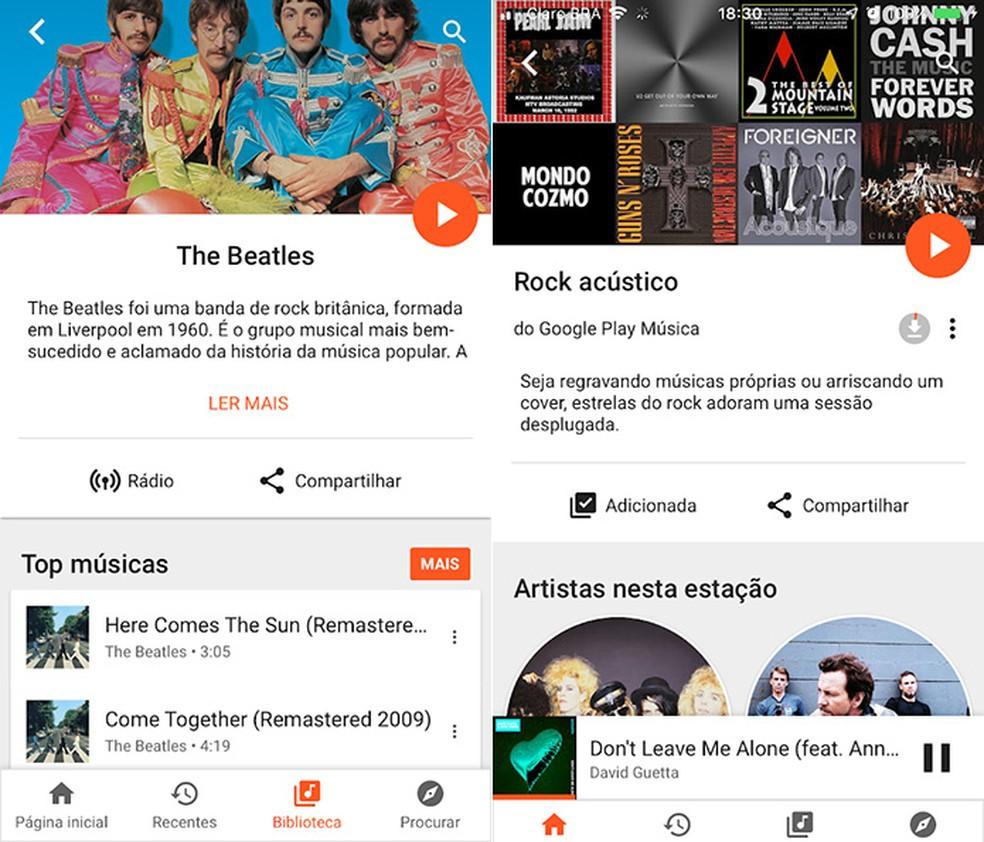 Assinatura do Google Play Music também vale para o YouTube Music — Foto: Reprodução/Amanda de Almeida