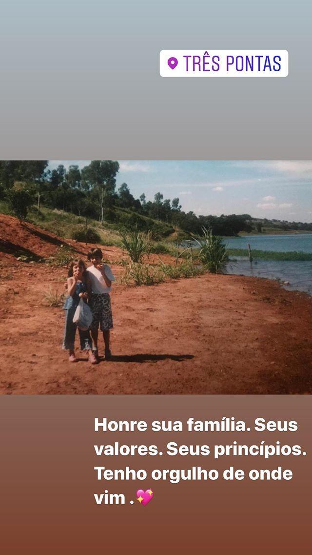 Gabi Martins mostra um pouco da infância no interior de MG (Foto: Reprodução/Instagram)
