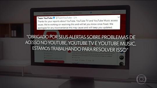 YouTube fica fora do ar por mais de uma hora em várias partes do mundo