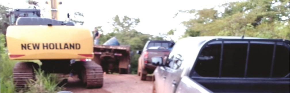 Máquinas foram recuperadas pela Civil, em fevereiro — Foto: Polícia Civil/Divulgação