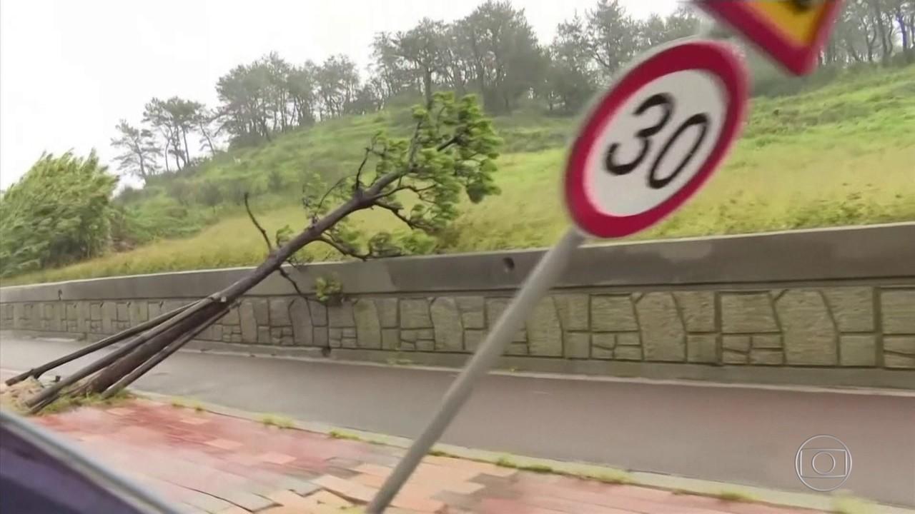 Segundo tufão em uma semana atinge o Japão e a Coreias