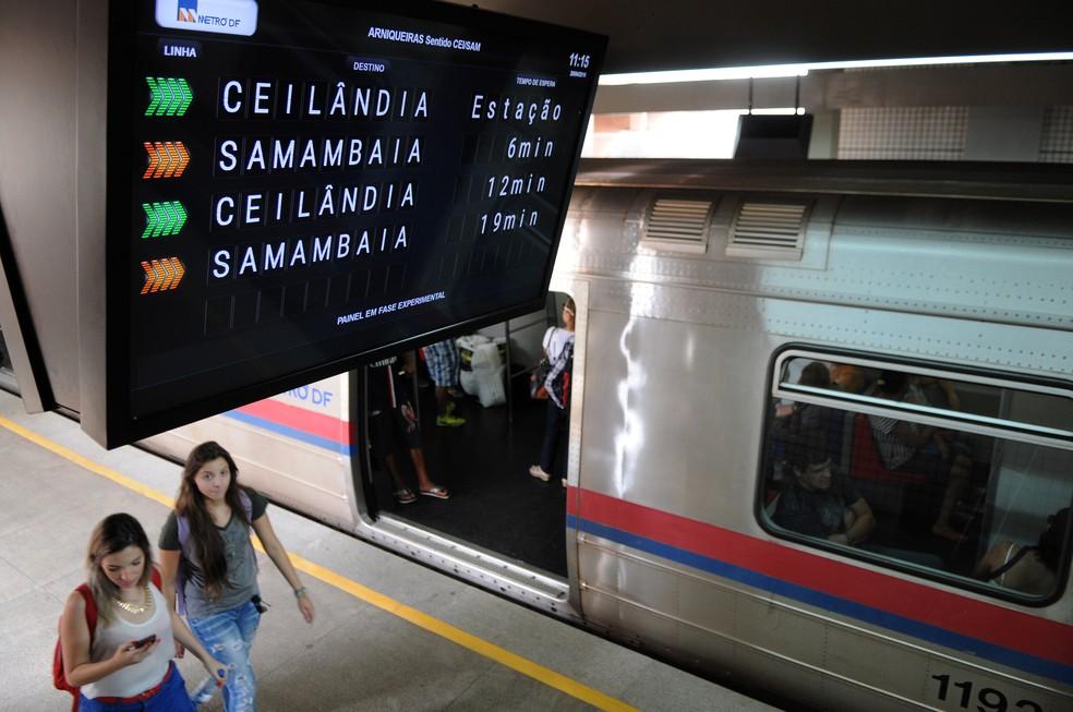 Estação de metrô no Distrito Federal  — Foto: Gabriel Jabur/Agência Brasília