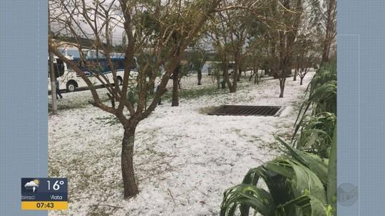 Mulher morre durante chuva de granizo em Santa Rita do Sapucaí