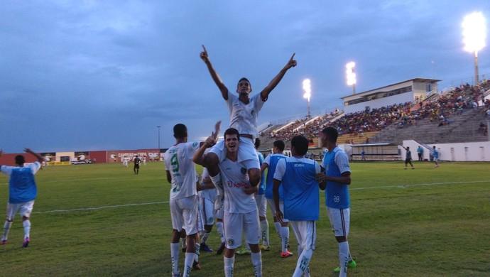 Globo FC x Assu, no Estádio Barretão - gol de Romeu (Foto: Francielle Manoel/Assu)