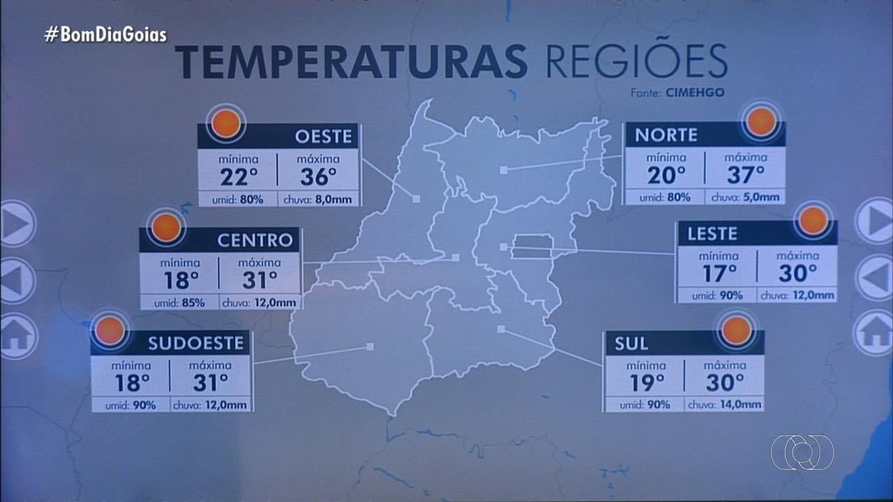 Goiânia tem previsão de chuva para esta sexta-feira (23)