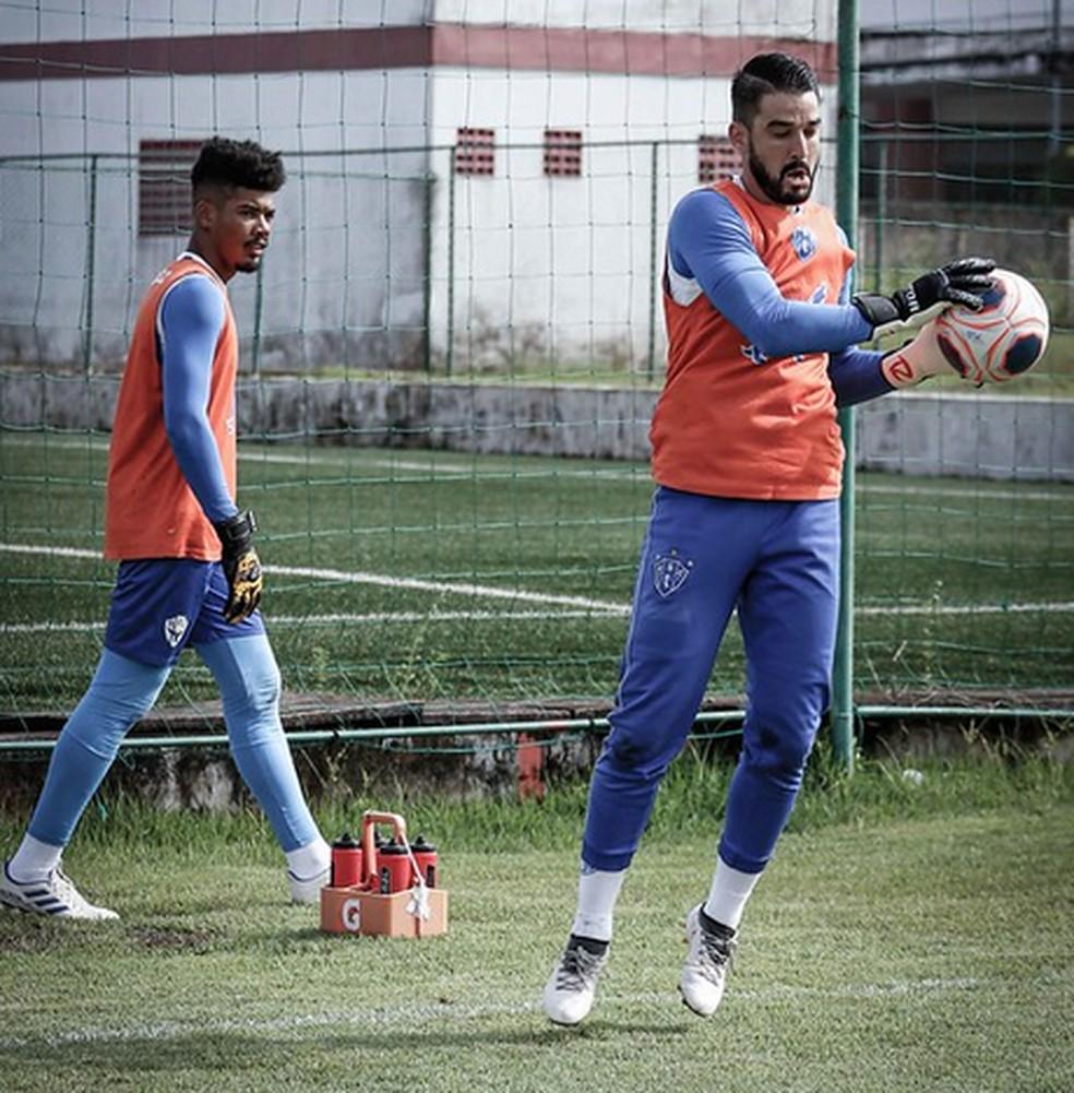 Sem Gabriel Leite, Paulo Ricardo assume a titularidade no Paysandu — Foto: Jorge Luís Totti/Paysandu