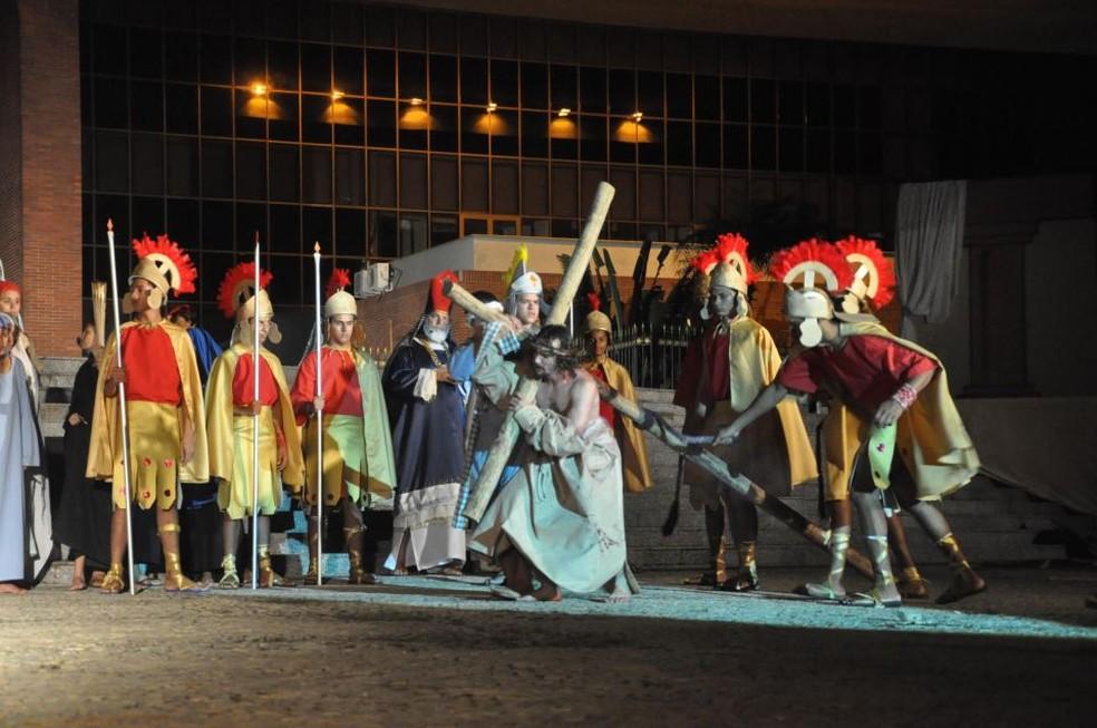 Companhia está recrutando atores para a encenação da Paixão de Cristo em Palmas — Foto: Divulgação/Cia Art'Sacra