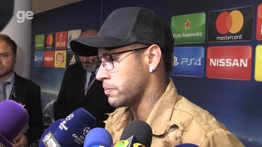"""Neymar minimiza atrito com Cavani e faz mistério sobre pênaltis: """"Está decidido já"""""""